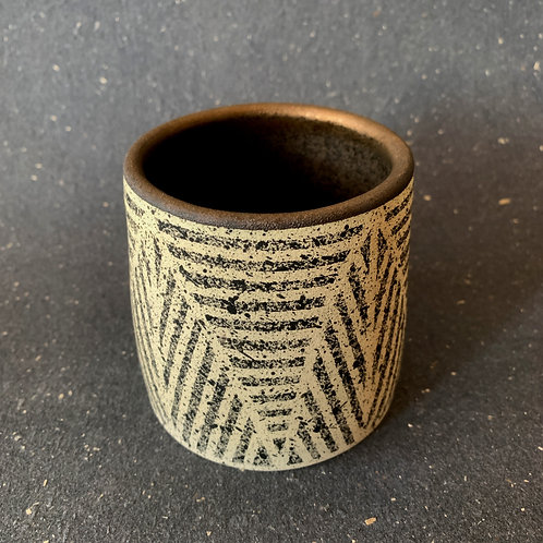 Leaf Tumbler with Gold
