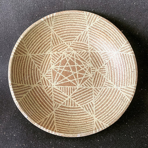 Platter with Weave Pattern