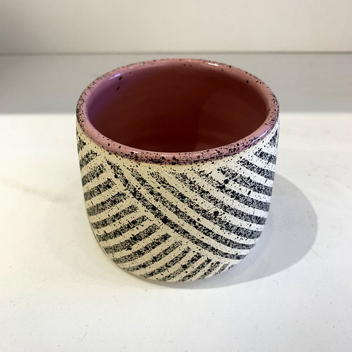 Tumbler with Pattern in Dusty Pink