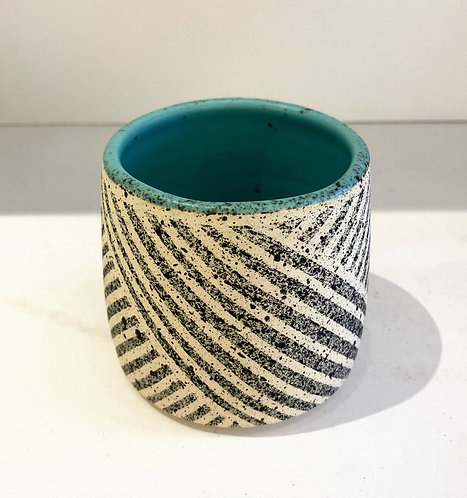 Tumbler with Weave Pattern in Turq