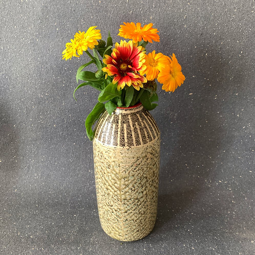 "Zig Zag Vase with ""Salt"" Finish"