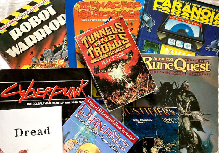 We play a wide variety of games as well as Dungeons and Dragons