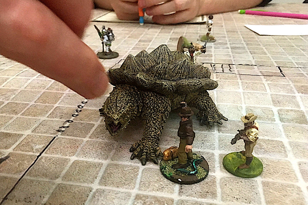 Miniatures used in Roleplaying Games