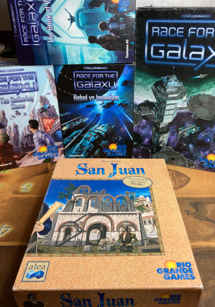 San Juan and Race for the Galaxy