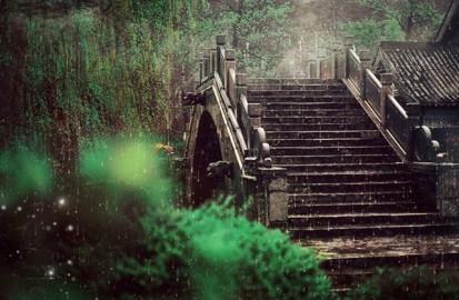 Starker Regen kommt gelegentlich vor.