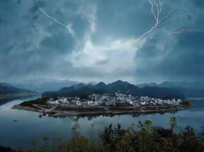 Der Donner und Blitz sind Yang Energie von Himmel. In der Frühling wachst die Natur die Yang Energie auf, deshalb werden Donner und Blitz häufig kommen.