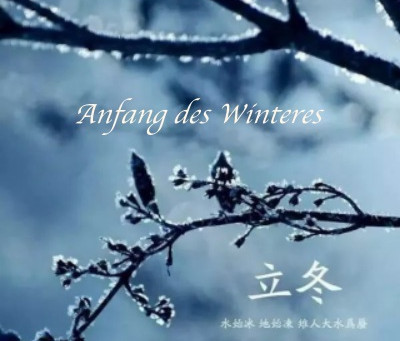 Anfang des Winters