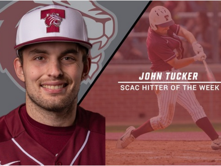 Tucker named SCAC Offensive Player of the Week