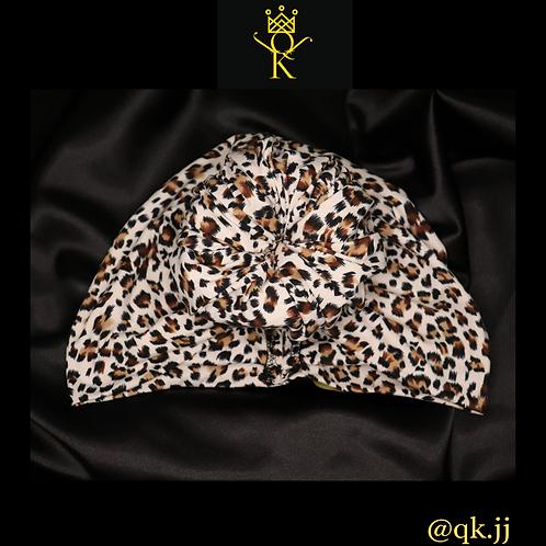White Leopard Headwrap (R2W)