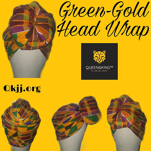 Green-Gold (R2W) Head Wrap