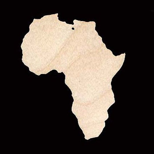 Wooden Shape of Africa
