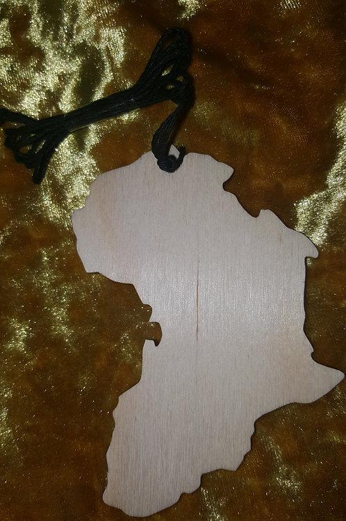 Wooden Africa (w/Hemp Cord)