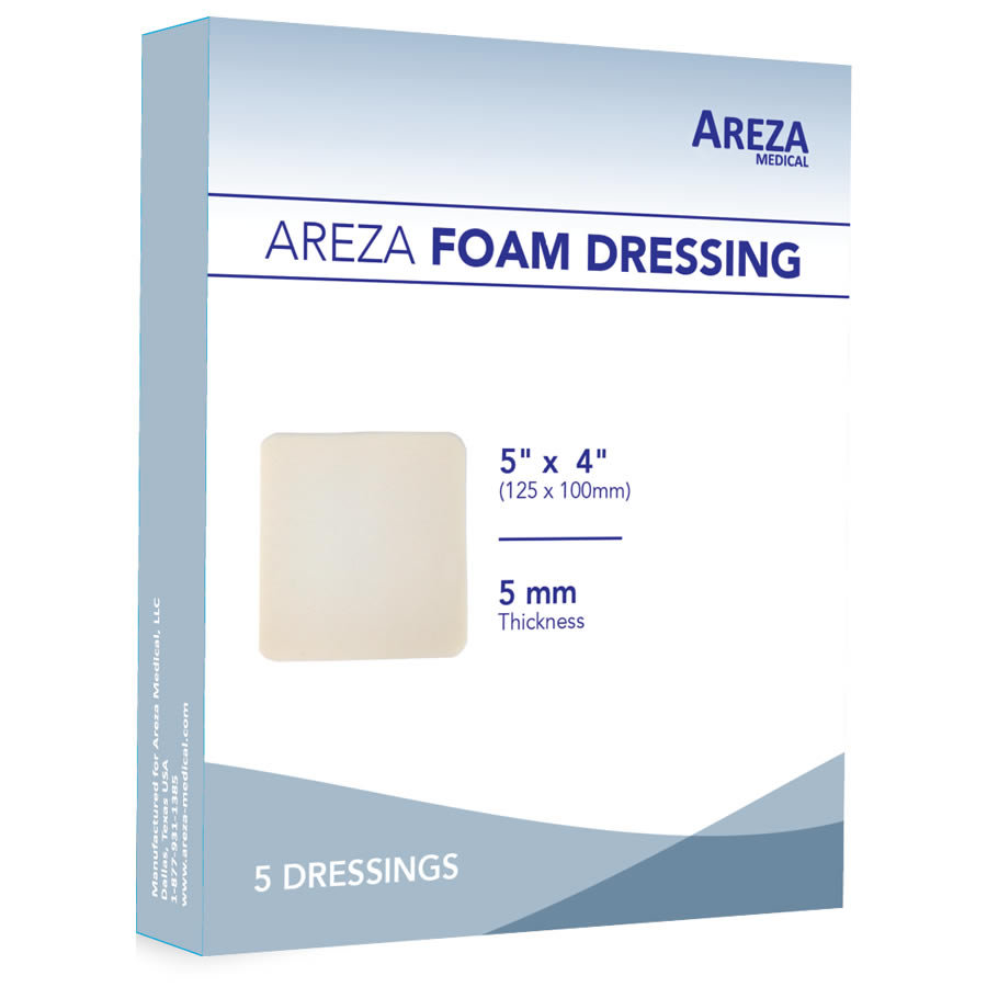 POLYURETHANE FOAM DRESSING 5″ X 4″ (5 PCS)
