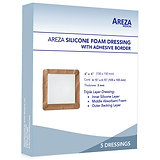 SILICONE FOAM DRESSING WITH ADHESIVE BORDER 6″ X 6″ (5 PCS)