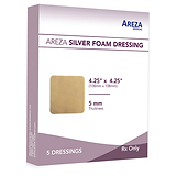 SILVER FOAM DRESSING 4.25″ X 4.25″ (5 PCS)