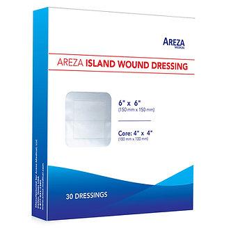 areza medical gauze border island dressing