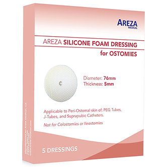 silicone foam dressing for ostomy