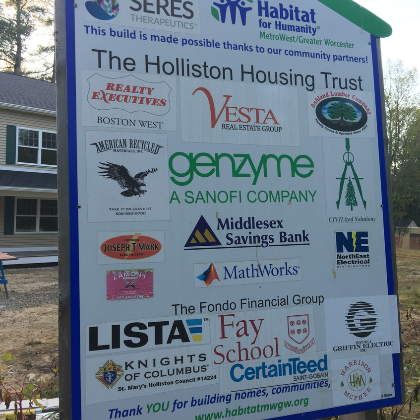 Holliston Habitat Sponsors