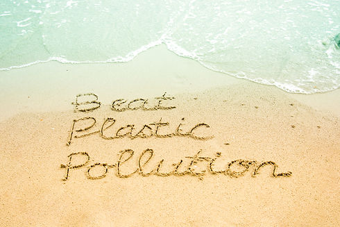 The word Beat Plastic Pollution, a campaign for the World Environment Day 2018, hand writt