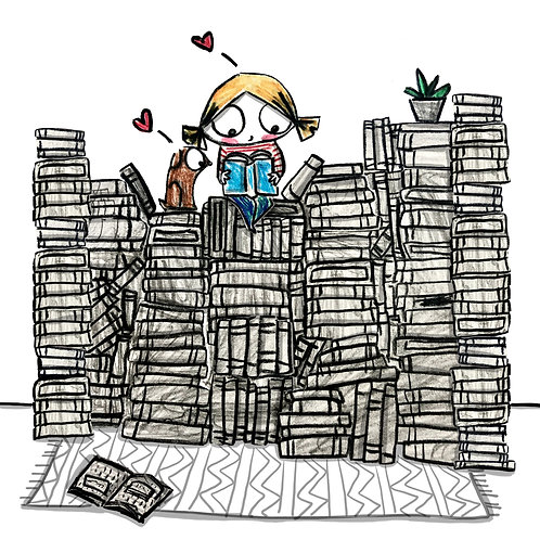 """""""Fill your house with stacks of books"""" Print"""