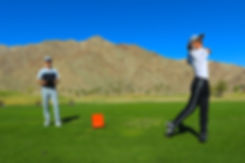 Golf coach with TrackMan