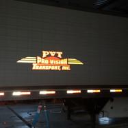PVT Trailer Reflective Lettering