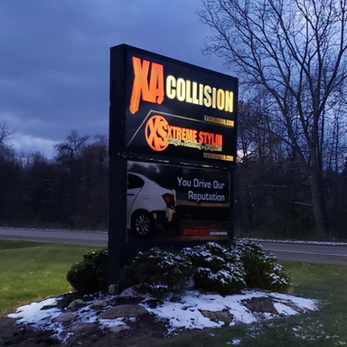 XA Collision Sign