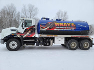 Wray's Septic Truck Wrap