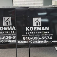 Koeman Construction Sign