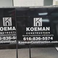 Koeman Construction Sign