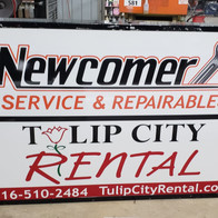 Newcomer, Tulip City Rental Sign