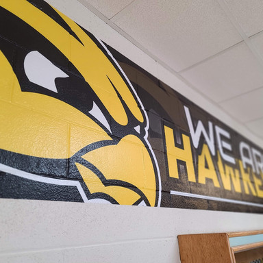 Hamilton Schools Block Wall Vinyl Wrap