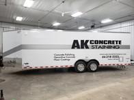 AK Concrete Lettering