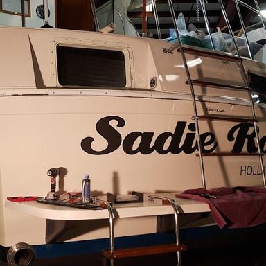 Vinyl Lettering Boat Namer