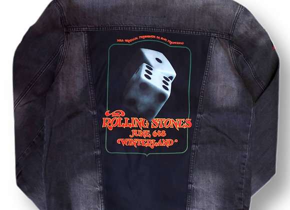 Denim Jacket Rolling Stones