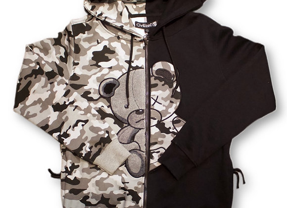 Civilized sweater- camo bear