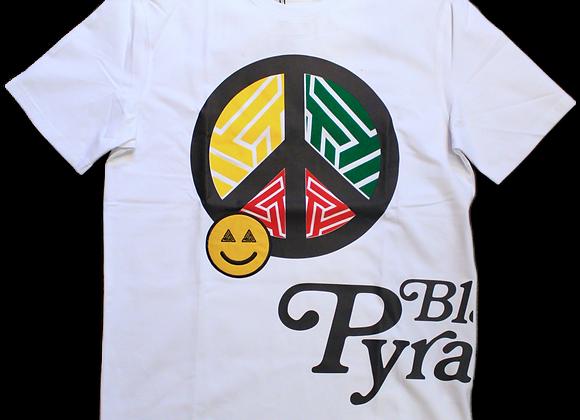 Black pyramid - white tee