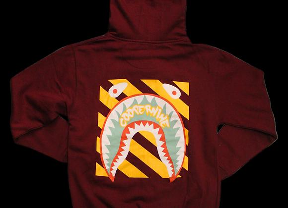 Cooper shadow maroon sweatsuit (top)