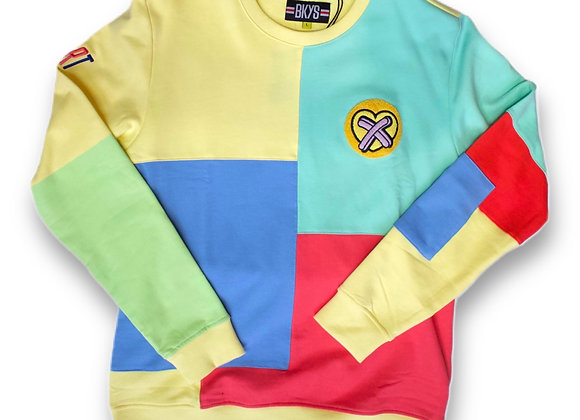Colorful puzzle crewneck