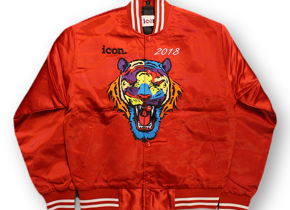 Icon bomber jacket - red