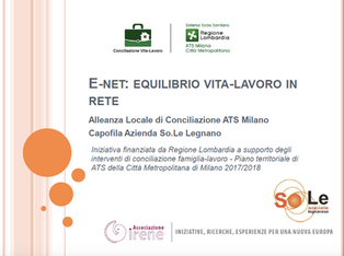 Progetto E-NET: Equilibrio vita - lavoro in RETE
