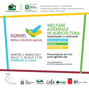 "Webinar ""Welfare aziendale in agricoltura"""