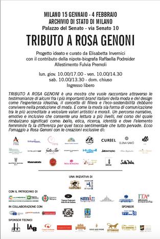 """Associazione IRENE partecipa alla mostra """"Rosa Genoni1867-1954. Una donna alla conquista del '900 p"""