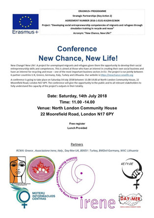 Conferenza finale Progetto NEW CHANCE,NEW LIFE! Erasmus+