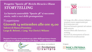 Evento a Milano della Sartoria sostenibile Spazio 3R_Riciclo Ricucio Riuso