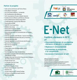 Continuano le attività del Progetto E-NET Equilibrio Vita - Lavoro in Rete.