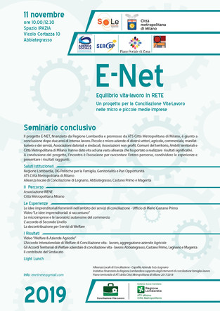 Progetto E-NET: Evento Finale
