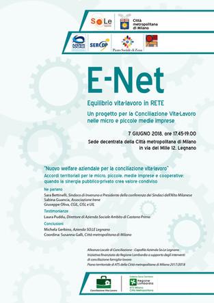 """Progetto """"E-Net Equilibrio Vita Lavoro in rete"""": quando la sinergia Pubblico - Privato div"""