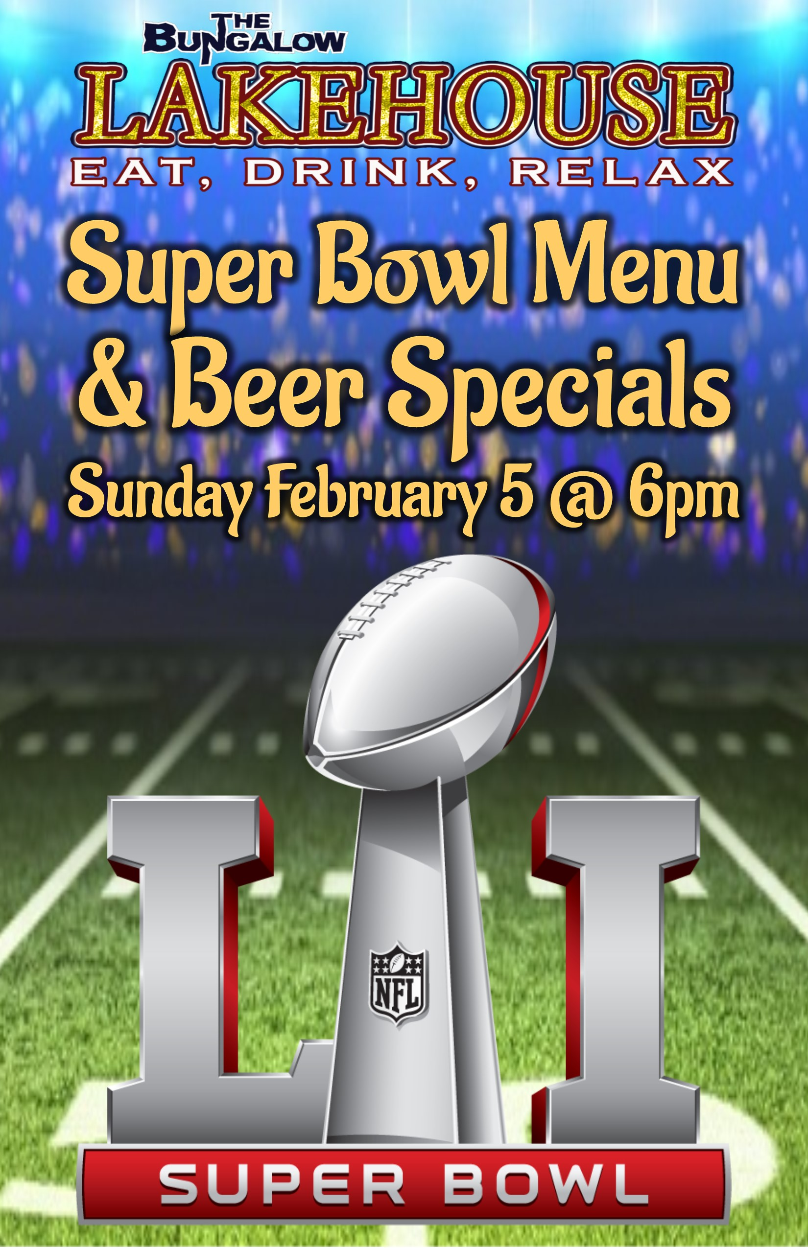 Super Bowl 51 LH 11x17