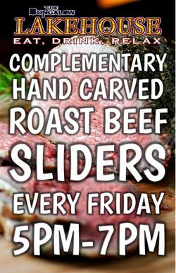 Roast Beef Sliders happy hour